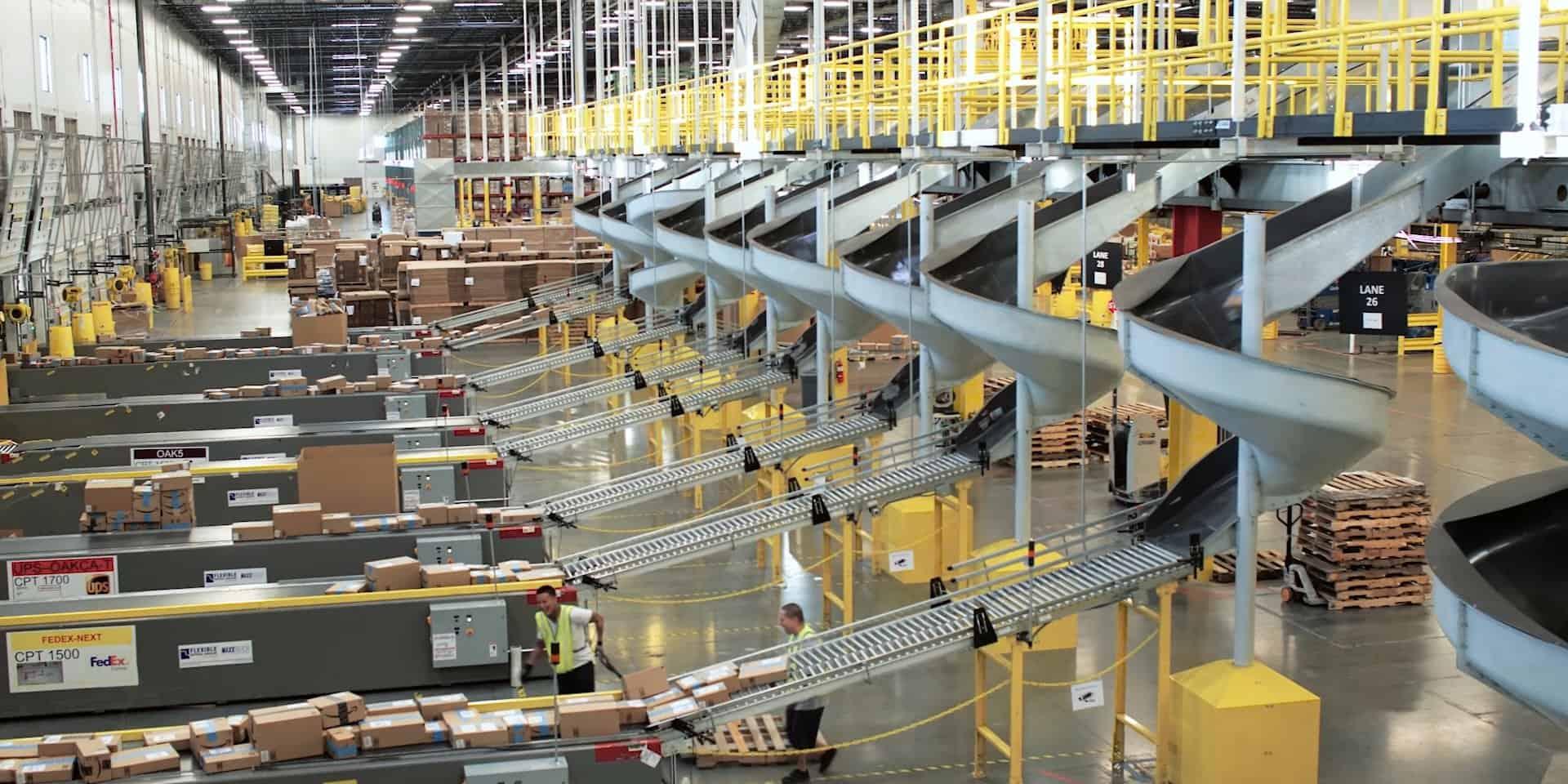 inside an amazon warehouse