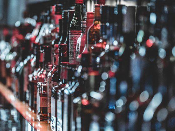 bottles of spirits on a back bar
