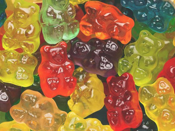 cbd gummy bears close up