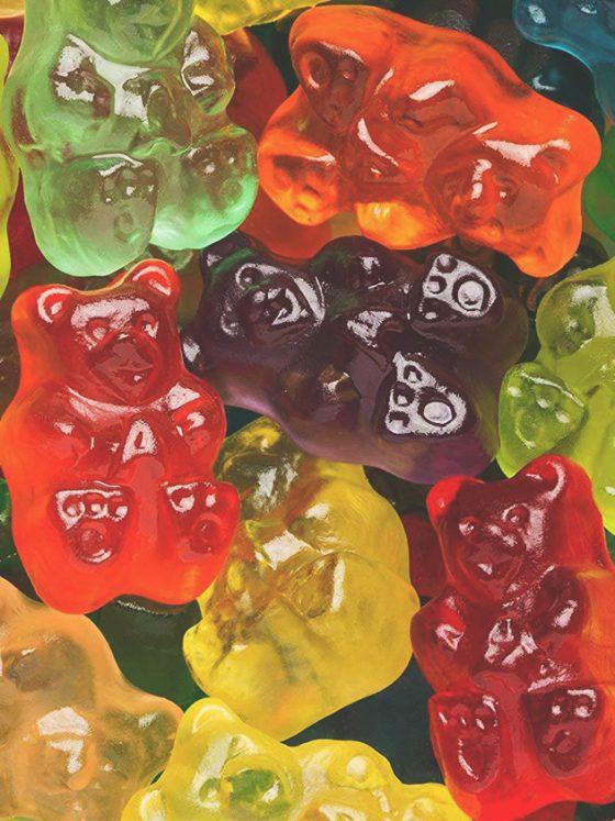 cbd gummy bears close up