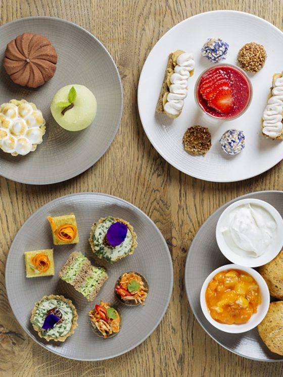'High Tea' containing cakes and treats infused with CBD
