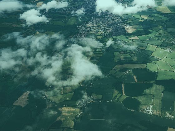 british hemp fields from the air