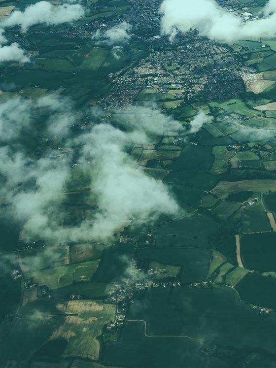 british hemp fields from the air