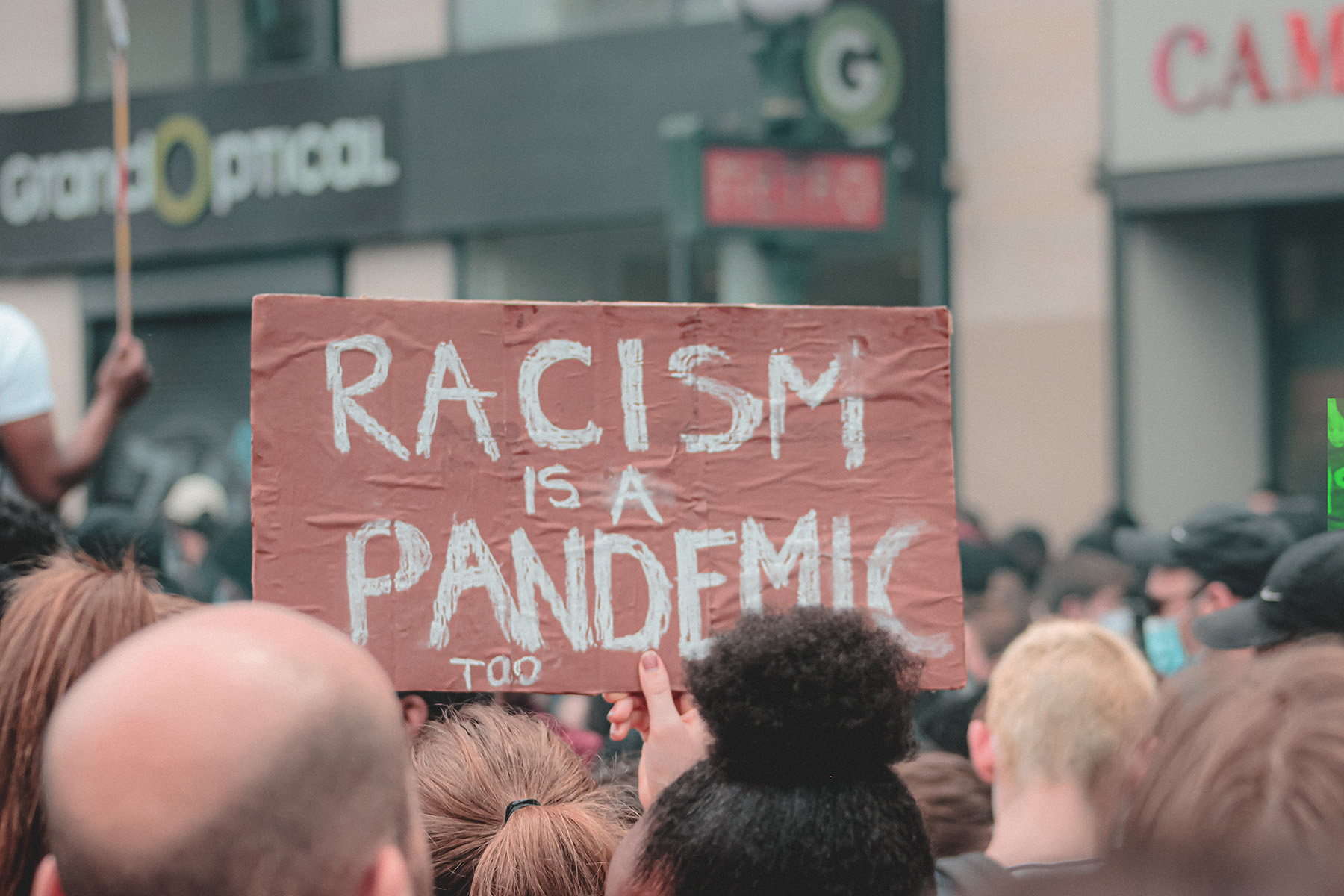 a protest against racism