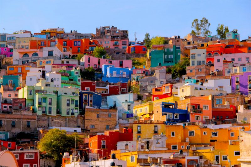 colourful mexican village