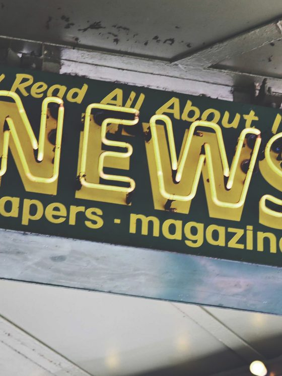 sign outside newsagent