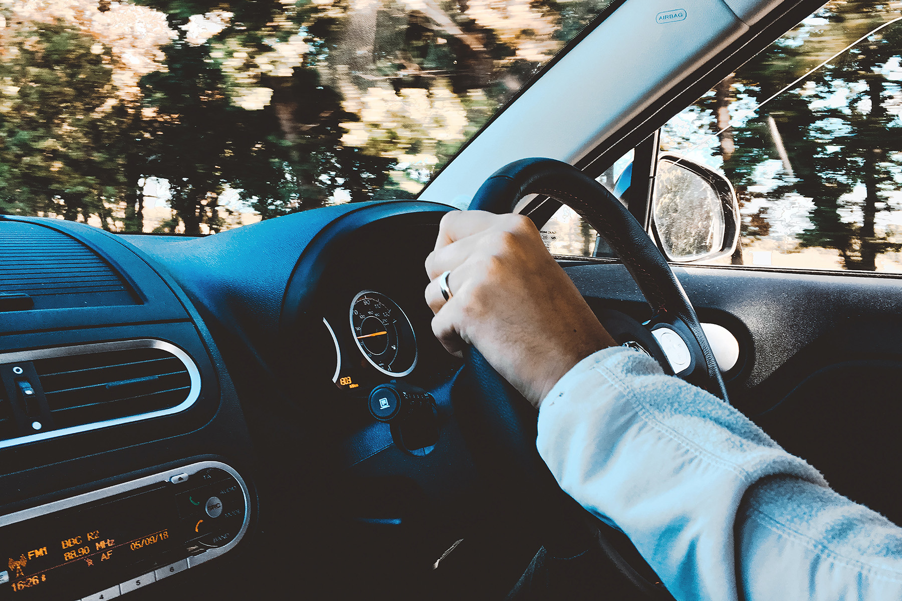 man driving safely after consuming CBD