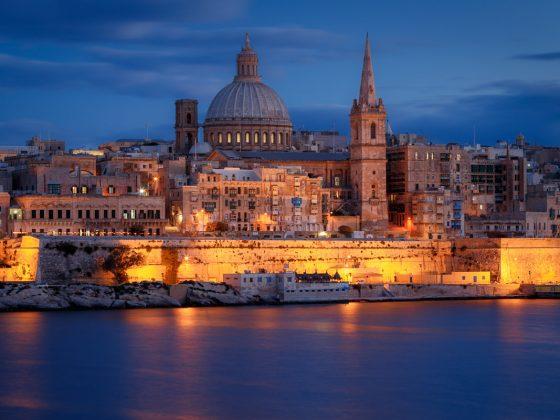 Valletta, Malta at Dusk