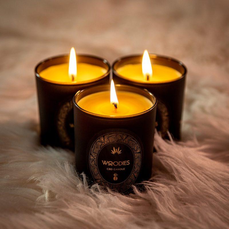 Woodies CBD candle