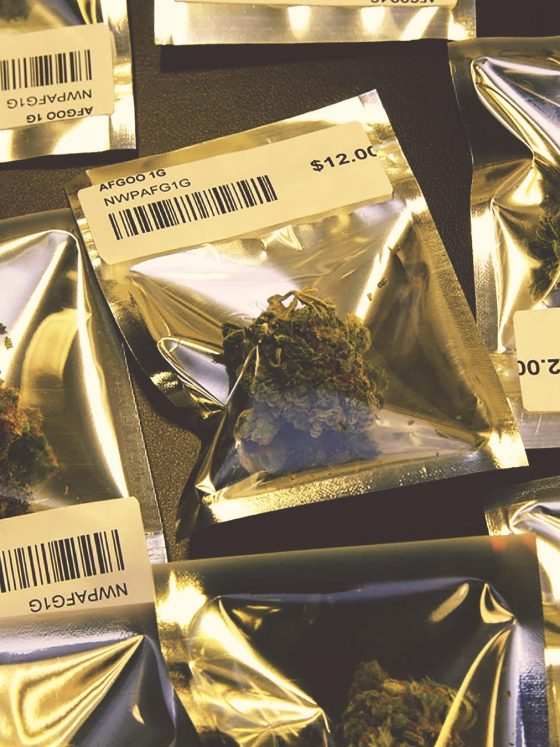 Dispensary style cannabis in mylar bags