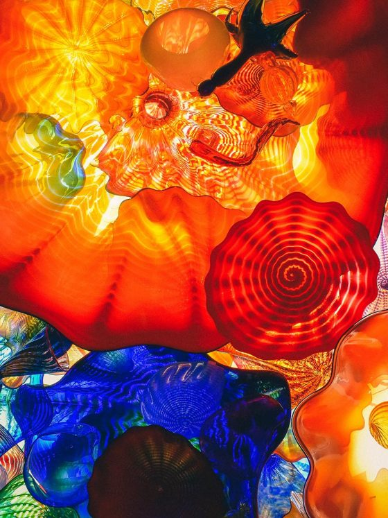 abstract colourful image of glass