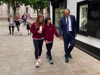 billy caldwell on 1000 mile walk with mum charlotte