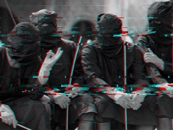 stylised image of caning squad