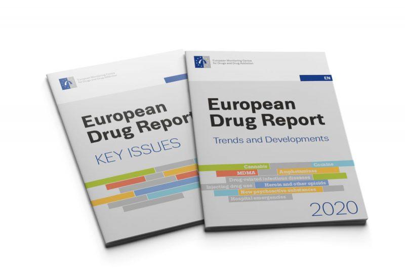 mockup of drug report booklet