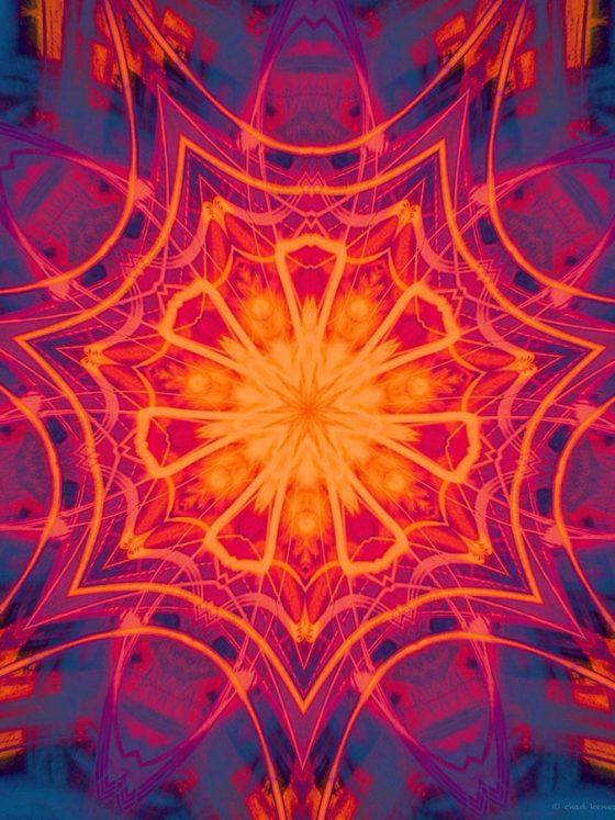 psychedelic kaleidoscope image