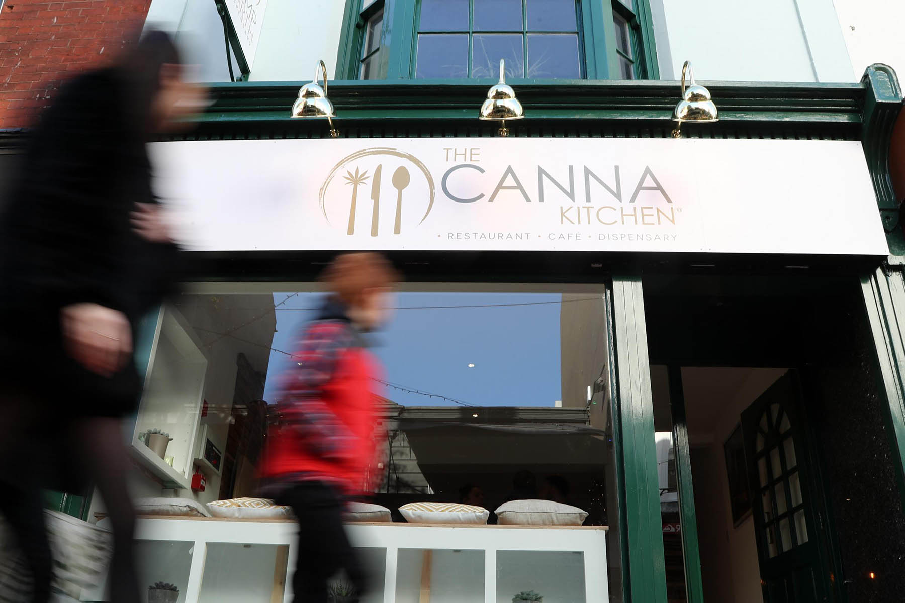The Canna Kitchen in Brighton before being raided and closed