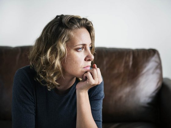 Person suffering from depression